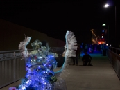 Margaret Craig - Luminaria 2016 - Hays Street Bridge - up the incline to the bridge