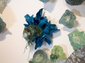 Detail - blue folds